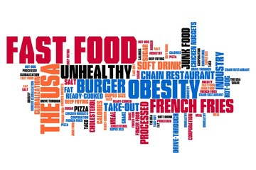 Fast food - word cloud