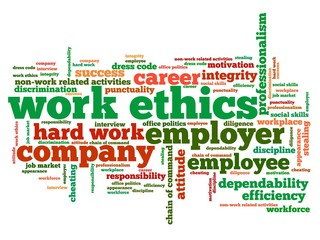 Work ethics - word cloud