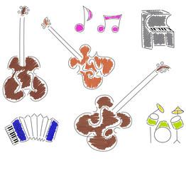 Instruments de musique stylisés 2
