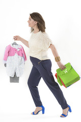 Shopaholic Pregnant Woman