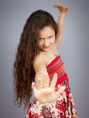 young girl dancing