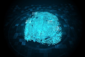 Digital security finger print scan