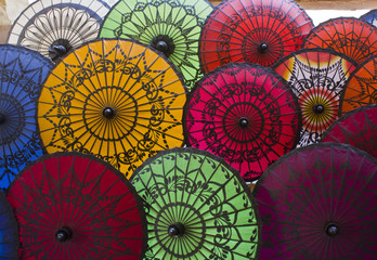Typical Myanmar Umbrellas