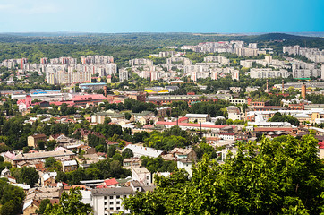 Lviv city from height