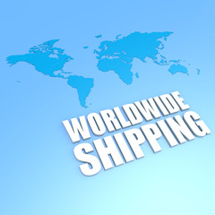 Worldwide shipping world map