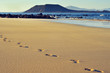 white sand beach in Corralejo, Fuerteventura, Spain