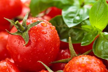 Cherry tomatoes background.