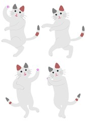 踊る三毛猫