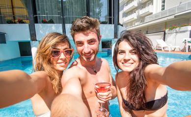 selfie in the swimming pool