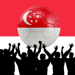 Mass cheering with Singapore Soccer ball