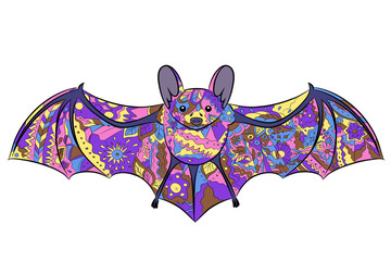 vector illustration of colorful bat