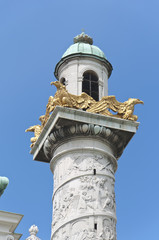Detail from St. Charles's Church in Vienna