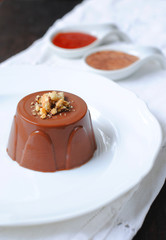 Chocolate Pudding with Sweet Sauces