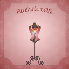 Invitation for Bachelorette Party with corset