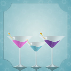 Invitation for bachelorette party with drink
