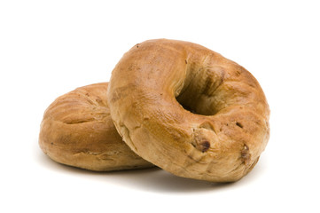 Two Cinnamon Bagels