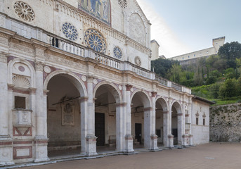 spoleto cathedral detail