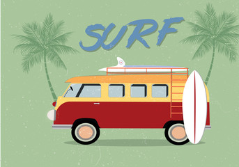 Retro Surfing Theme Background