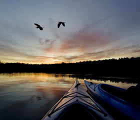 Wilderness Lake Sunset