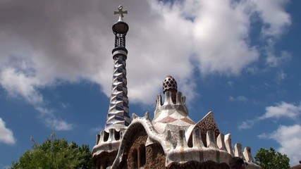 Types of Park Guell. Main Entrance. Barcelona