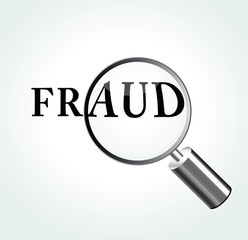 Vector fraud theme illustration