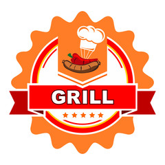 Grill label design.