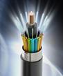 canvas print picture - Fiber optical cable detail
