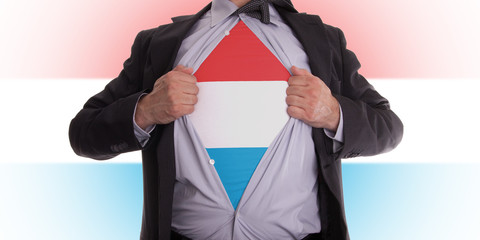 Business man with Luxembourg flag t-shirt