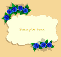 Greeting card with roses 1