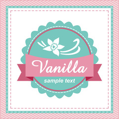 Vanilla label.