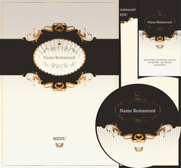 design elements for a restaurant in Baroque style