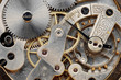 canvas print picture - vintage clock machinery