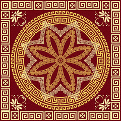 vector Traditional vintage gold Greek ornament (Meander)