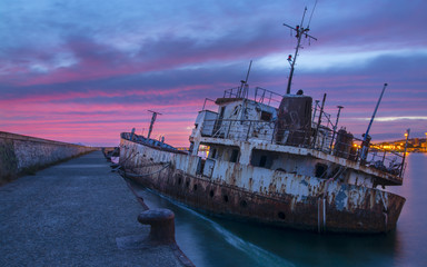 wreck of the port of Cagliari