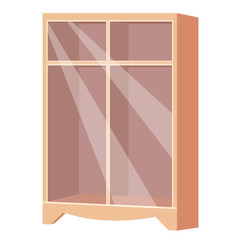 wardrobe isolated illustration