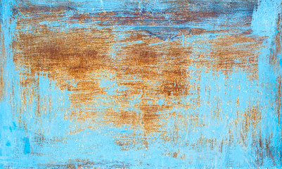 Painted rusty metal background