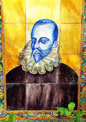 Miguel de Cervantes, azulejo, España