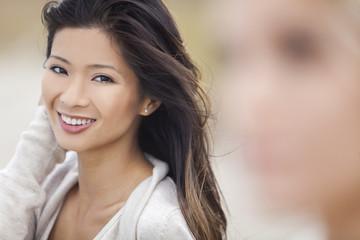 Chinese Asian Woman Girl at Beach