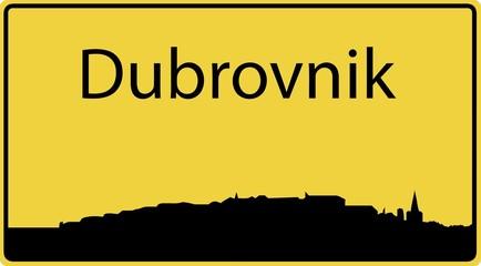Ortsschild Dubrovnik