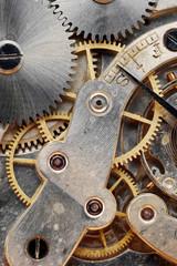 old clock machinery