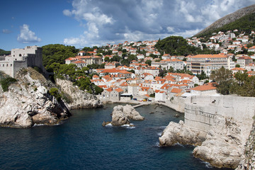 Beautiful old town in Dubrovnik, Croatia