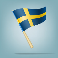 Flag of Sweden. vector illustration