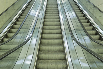 Escalators inside