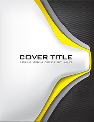Carbon Fiber Cover with Yellow and Silver