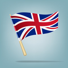 Flag of the United Kingdom. Vector illustration