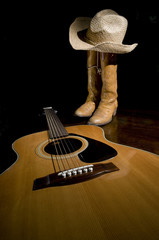Guitar and Cowboy Boots