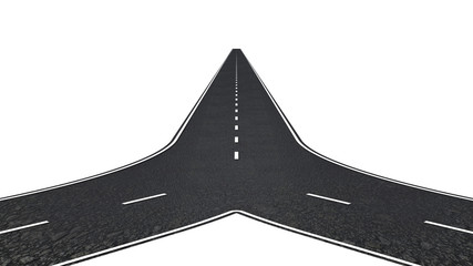 Road with two ways