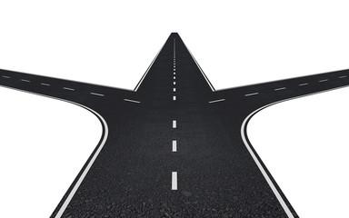 Road with three ways