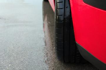 Modern wet tire.