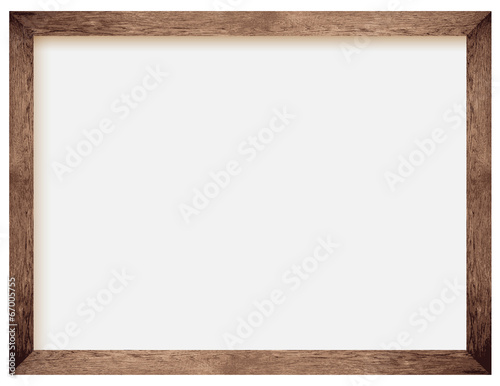 natural wooden photo frame - 67005755